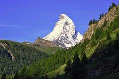 Matterhorn nelle alpi svizzere Immagine Stock
