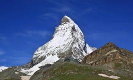 Matterhorn nelle alpi svizzere Immagine Stock Libera da Diritti
