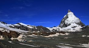Matterhorn nelle alpi svizzere Fotografia Stock Libera da Diritti