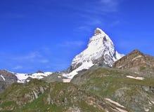 Matterhorn nelle alpi svizzere Fotografia Stock