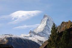 Matterhorn no outono Fotos de Stock Royalty Free