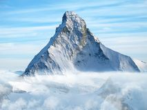 Matterhorn - north face. Matterhorn - the brand peak of Walliser Alps and Switzerland Royalty Free Stock Images