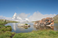 Matterhorn nos alpes, Switzerland Fotografia de Stock