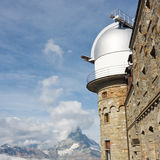 Matterhorn and Observatory at Gornergrat Royalty Free Stock Images