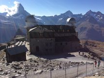 Matterhorn with Observatory Royalty Free Stock Photos