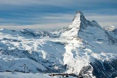Matterhorn och schweiziska Alps Arkivfoto