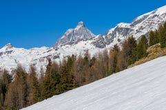 Matterhorn od Champoluc Obraz Stock