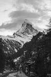 Matterhorn op Zwart-wit Royalty-vrije Stock Foto's