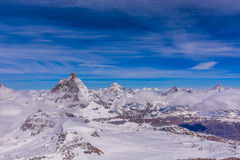 Matterhorn and other peaks around Zermatt, Switzerland Stock Photography