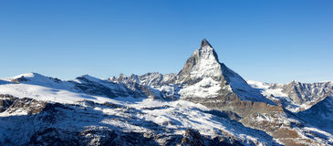 Matterhorn panorama, Switzerland Royalty Free Stock Images