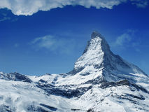 Matterhorn peak. With blue sky, Switzerland Stock Images