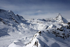 Matterhorn Peak. The Matterhorn peak in the Alps, Switzerland Royalty Free Stock Photos