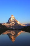 Matterhorn peak and reflection Stock Photo