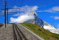 Matterhorn. Peak in swiss alps royalty free stock images