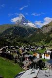 Matterhorn. Peak in swiss alps stock image