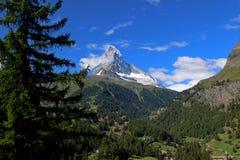 Matterhorn. Peak in swiss alps stock photo