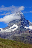 Matterhorn. Peak in swiss alps royalty free stock image