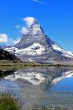 Matterhorn. Peak in swiss alps royalty free stock photo