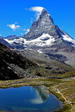 Matterhorn. Peak in swiss alps stock photo