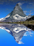 Matterhorn. Peak in swiss alps royalty free stock photography