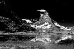 Matterhorn. Peak in swiss alps stock photography