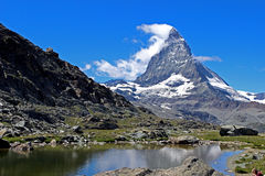 Matterhorn. Peak in swiss alps stock photos