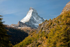 Matterhorn peak, Switzerland Royalty Free Stock Images