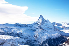 Matterhorn peak in winter  Switzerland Stock Image
