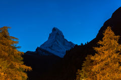 Matterhorn peak, Zermatt Royalty Free Stock Images