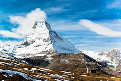 Matterhorn peak, Zermatt, Switzerland Royalty Free Stock Photography