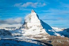 Matterhorn peak, Zermatt. The Matterhorn peak, Zermatt, Switzerland Stock Image