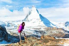 Matterhorn peak, Zermatt, Switzerland Stock Photography