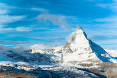Matterhorn peak, Zermatt, Switzerland Stock Images