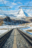 Matterhorn peak, Zermatt, Switzerland Stock Photography