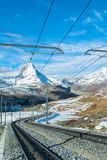 Matterhorn peak, Zermatt, Switzerland Royalty Free Stock Image