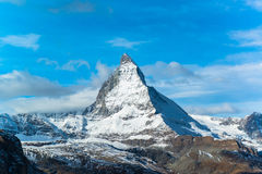 Matterhorn peak, Zermatt, Switzerland Stock Image