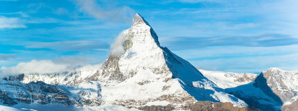 Matterhorn peak, Zermatt, Switzerland Royalty Free Stock Images