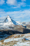 Matterhorn peak, Zermatt, Switzerland Stock Photos