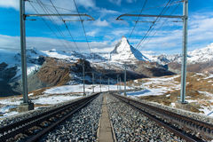 Matterhorn peak, Zermatt, Switzerland Stock Photo