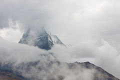 Matterhorn Peeking Through Rain Clouds Royalty Free Stock Photo