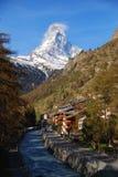 Matterhorn pendant le matin dans Zermatt Images libres de droits