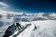 Matterhorn pochmurno Zdjęcia Stock