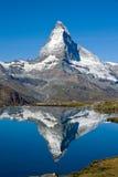 Matterhorn raddoppiato Fotografia Stock