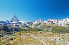 Matterhorn and railway Stock Photo