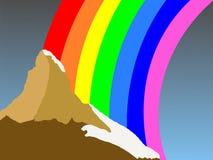 Matterhorn with rainbow Stock Image