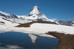 Matterhorn reflection Stock Image