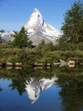 Matterhorn Reflection in Grindjisee Lake Royalty Free Stock Photography