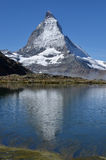 Matterhorn and Reflection Royalty Free Stock Images