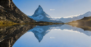 Matterhorn Reflection. View of Matterhorn Mountain with lake at Zermatt ,Switzerland Stock Photography