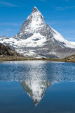 Matterhorn and Riffelsee Royalty Free Stock Images